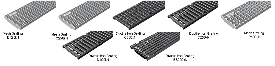 150mm Shallow Drainage Channel gratings