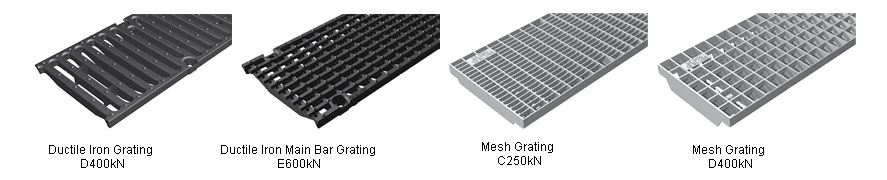 200mm Shallow Drainage Channel gratings